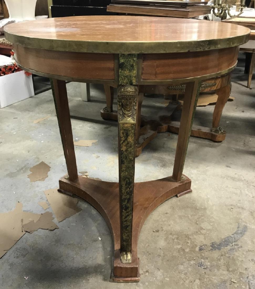 Cicular Wooden Empire Style Table w Ormolu mounts