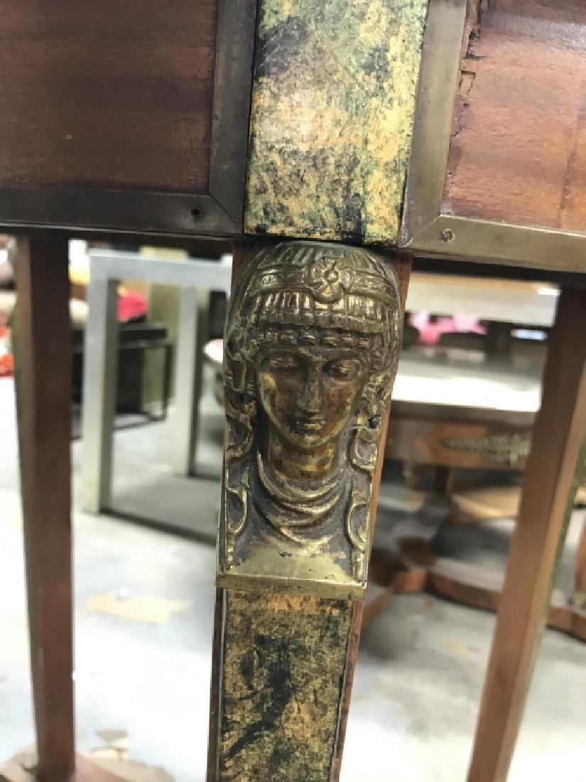 Cicular Wooden Empire Style Table w Ormolu mounts - 4
