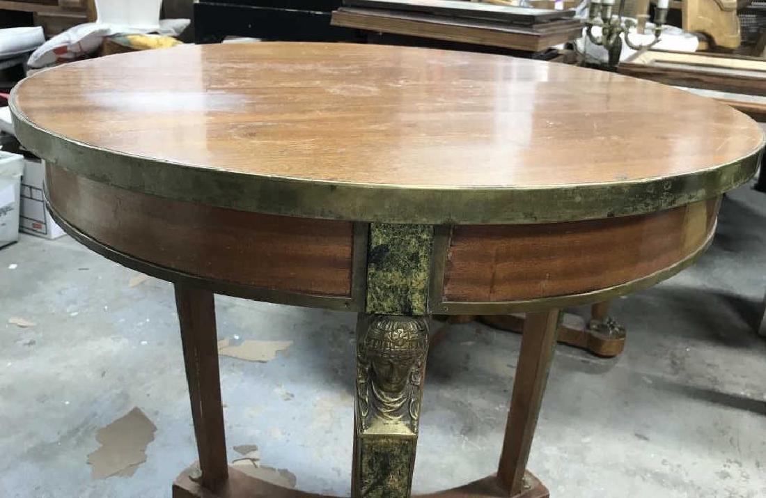 Cicular Wooden Empire Style Table w Ormolu mounts - 5