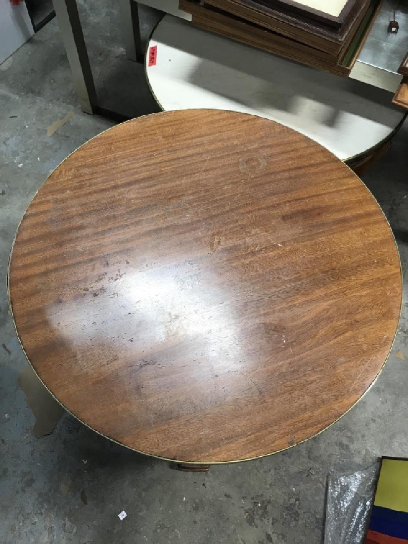 Cicular Wooden Empire Style Table w Ormolu mounts - 6