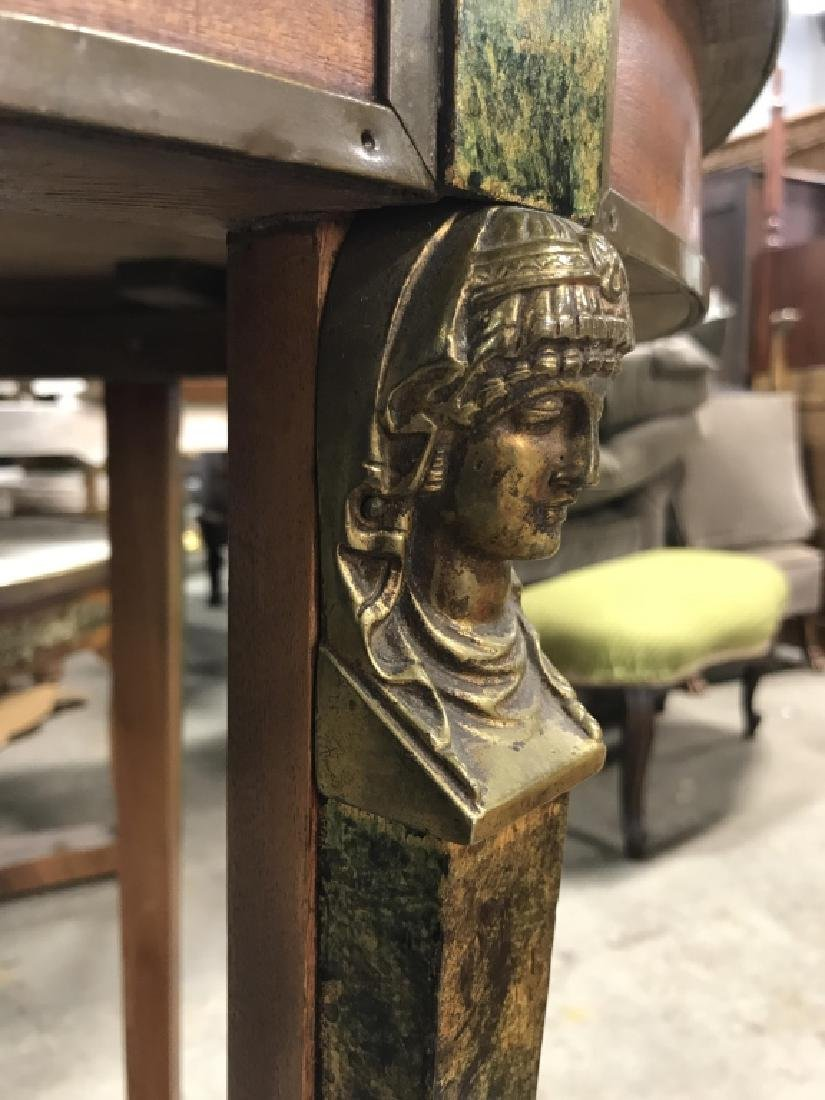 Cicular Wooden Empire Style Table w Ormolu mounts - 7