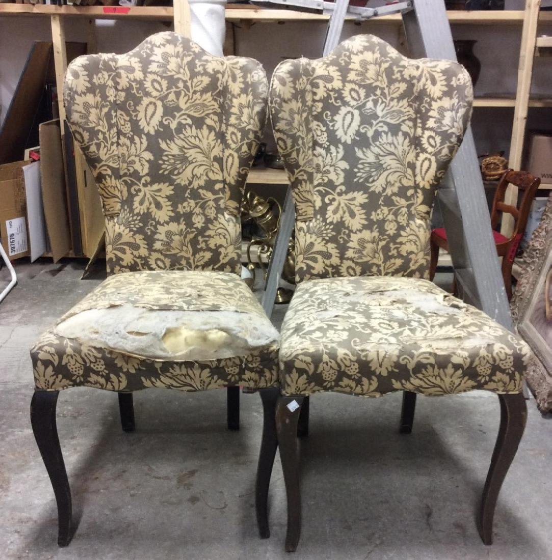 Pair Antique Semi-Wing Back Chair