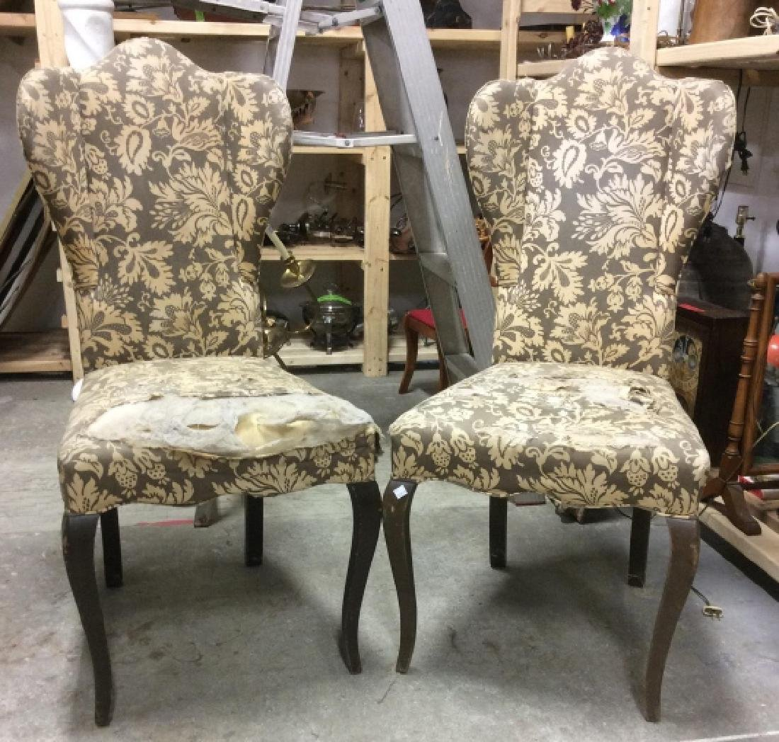 Pair Antique Semi-Wing Back Chair - 2