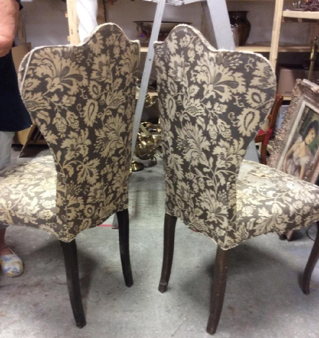 Pair Antique Semi-Wing Back Chair - 4