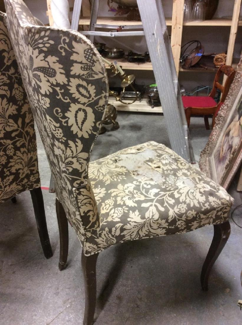 Pair Antique Semi-Wing Back Chair - 5