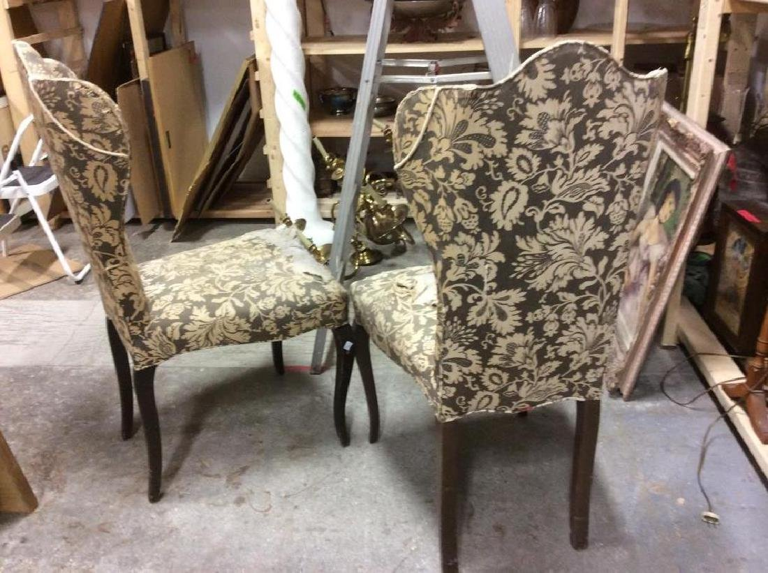 Pair Antique Semi-Wing Back Chair - 6