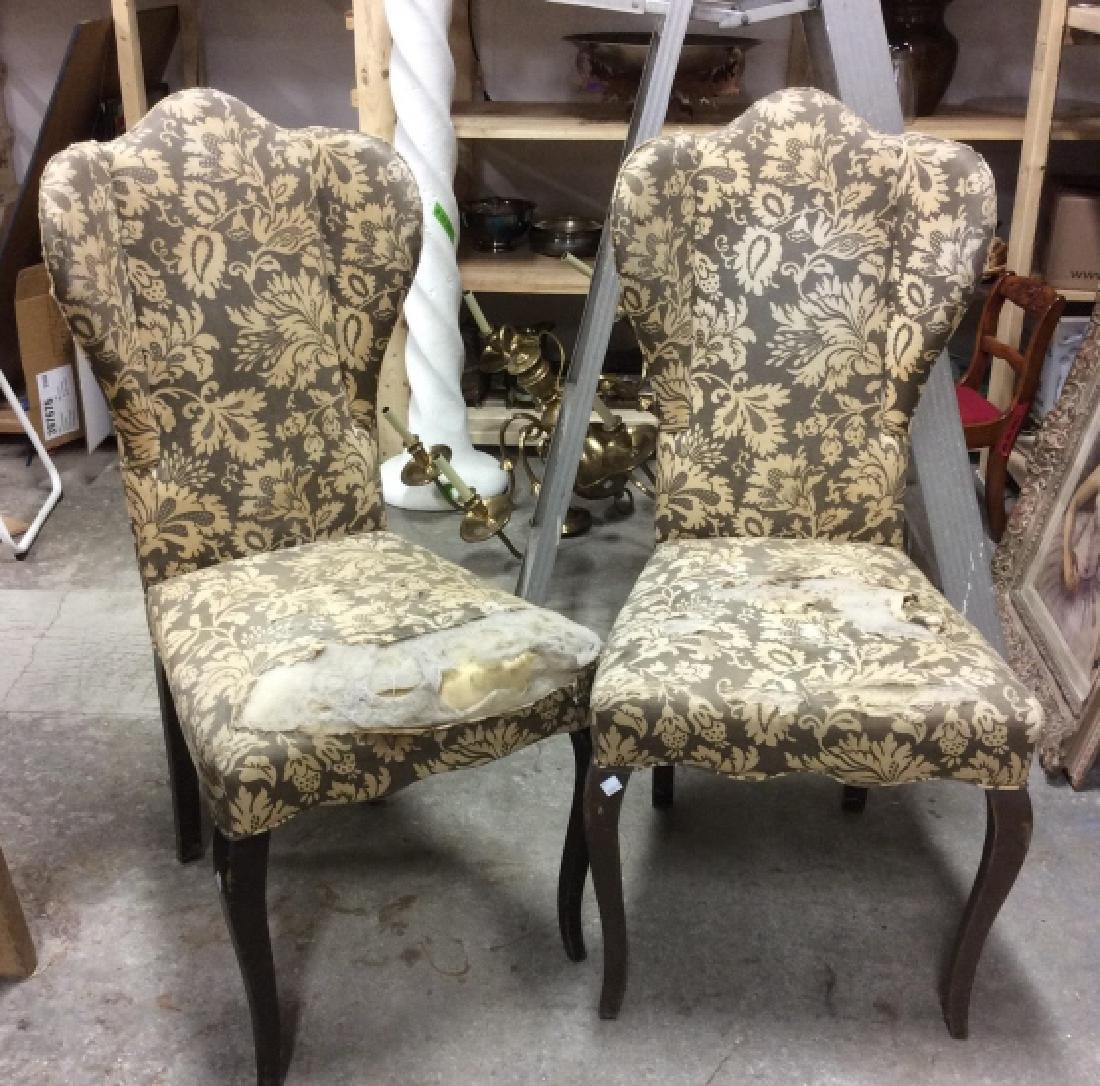Pair Antique Semi-Wing Back Chair - 7