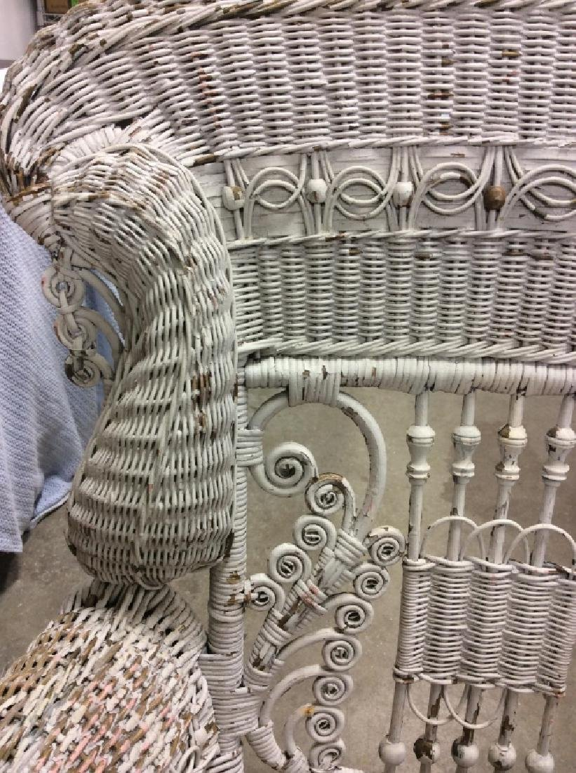 Antique Victorian Wicker Arm Chair - 2