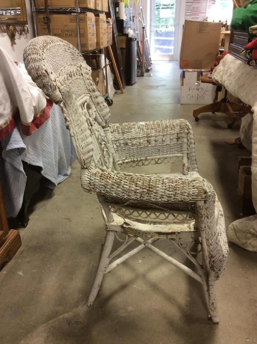 Antique Victorian Wicker Arm Chair - 6