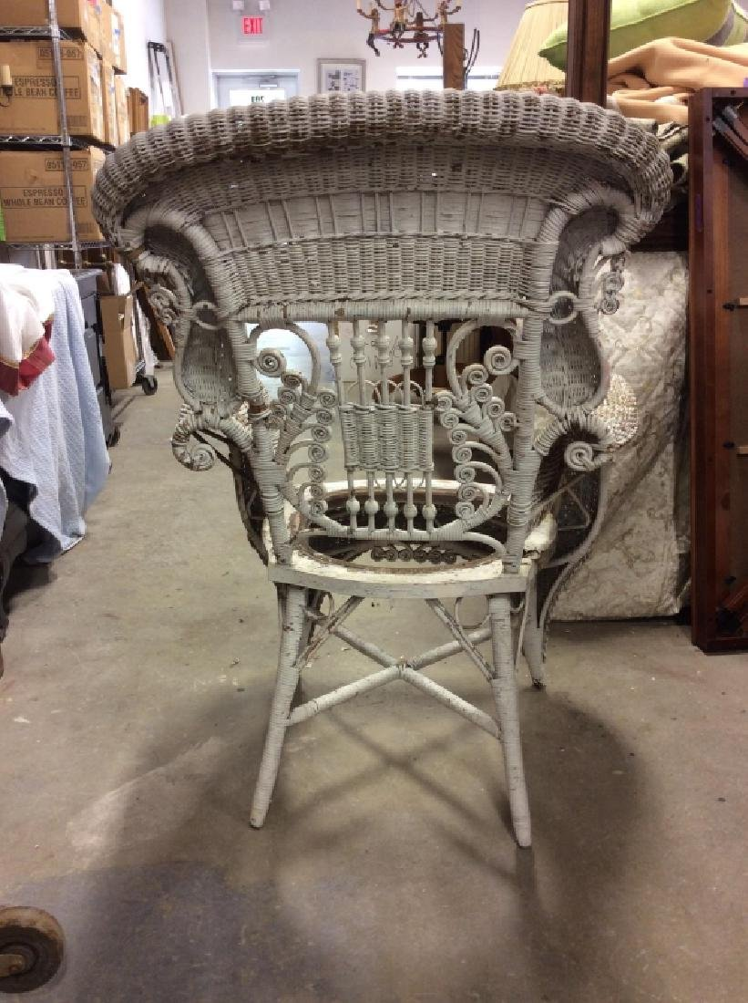 Antique Victorian Wicker Arm Chair - 8