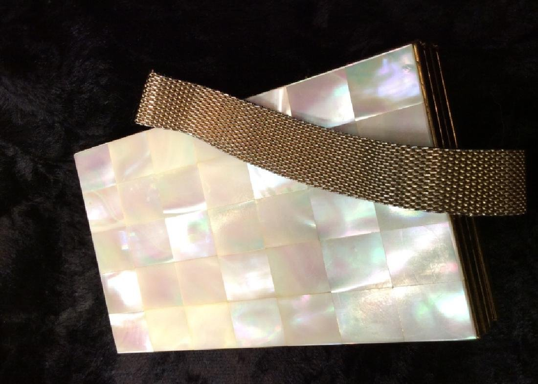 Vintage Mother of Pearl Inlay Clutch Wallet - 10