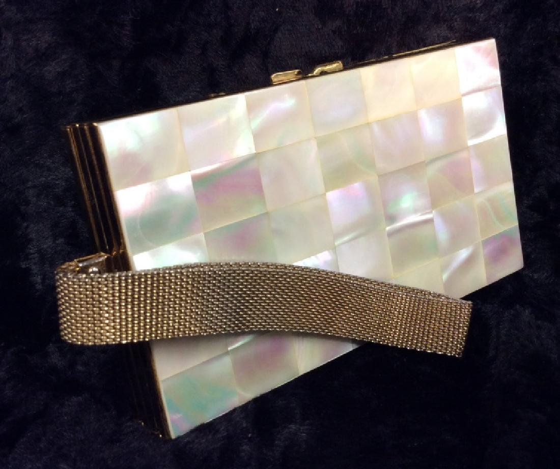 Vintage Mother of Pearl Inlay Clutch Wallet
