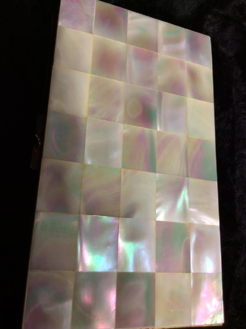 Vintage Mother of Pearl Inlay Clutch Wallet - 3