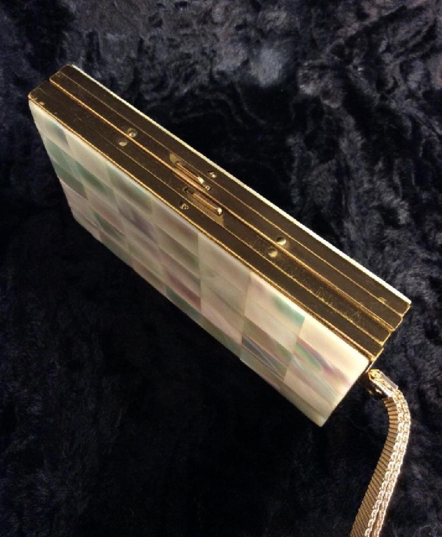 Vintage Mother of Pearl Inlay Clutch Wallet - 4