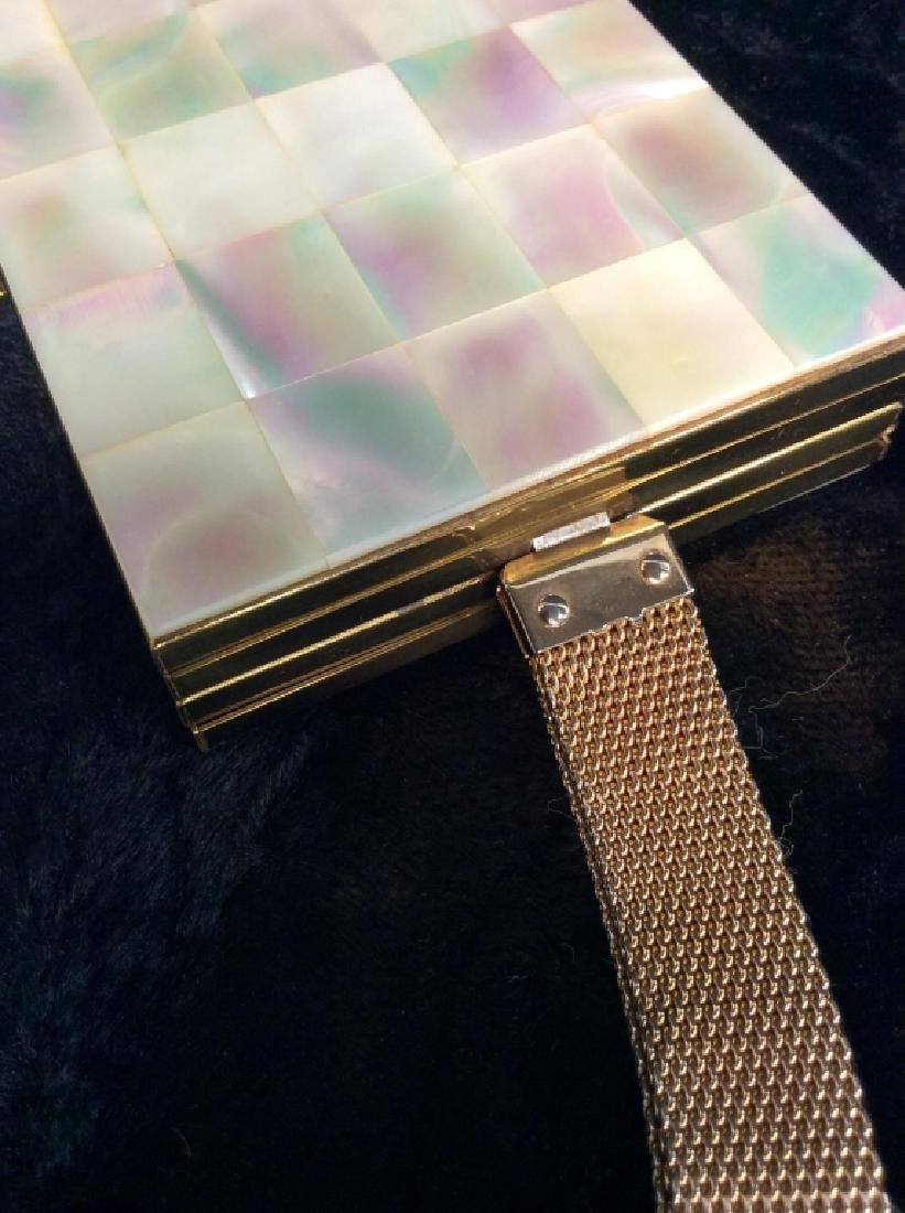 Vintage Mother of Pearl Inlay Clutch Wallet - 9
