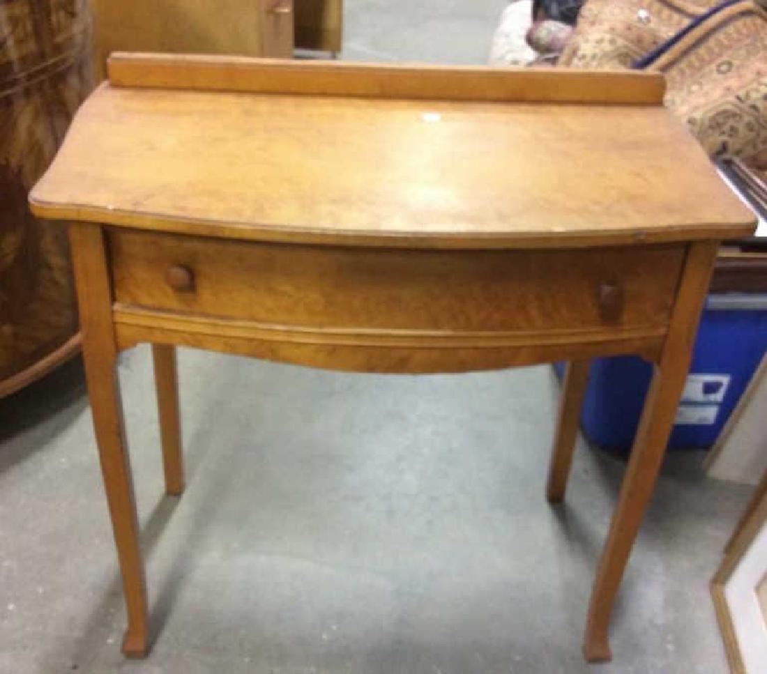 Antique Birds Eye Maple Desk Table