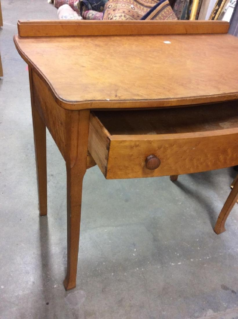 Antique Birds Eye Maple Desk Table - 3
