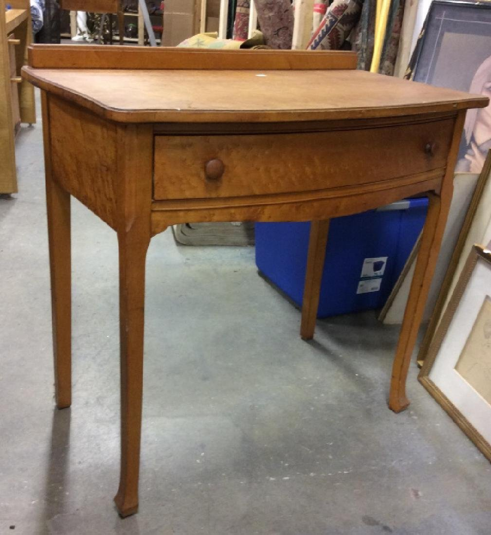 Antique Birds Eye Maple Desk Table - 4
