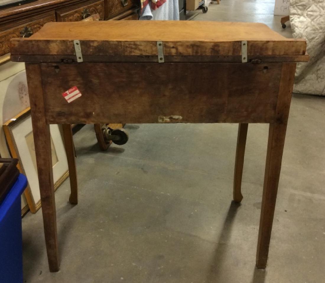 Antique Birds Eye Maple Desk Table - 5