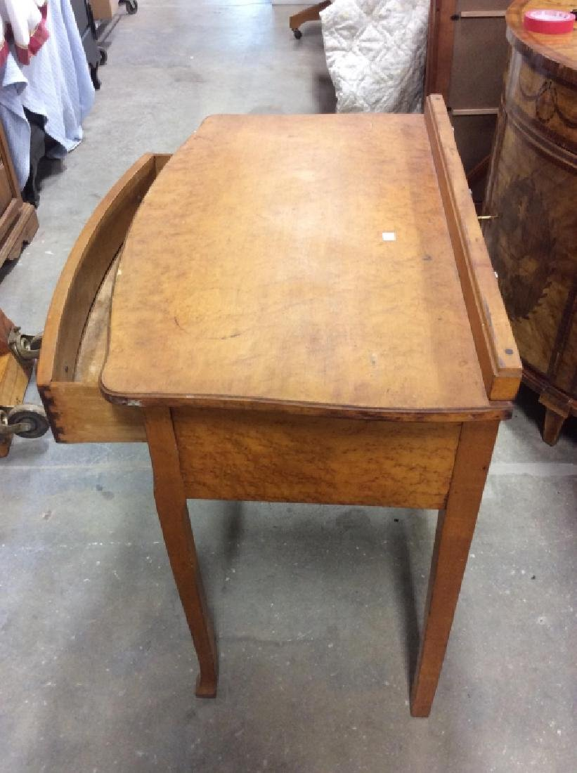 Antique Birds Eye Maple Desk Table - 6