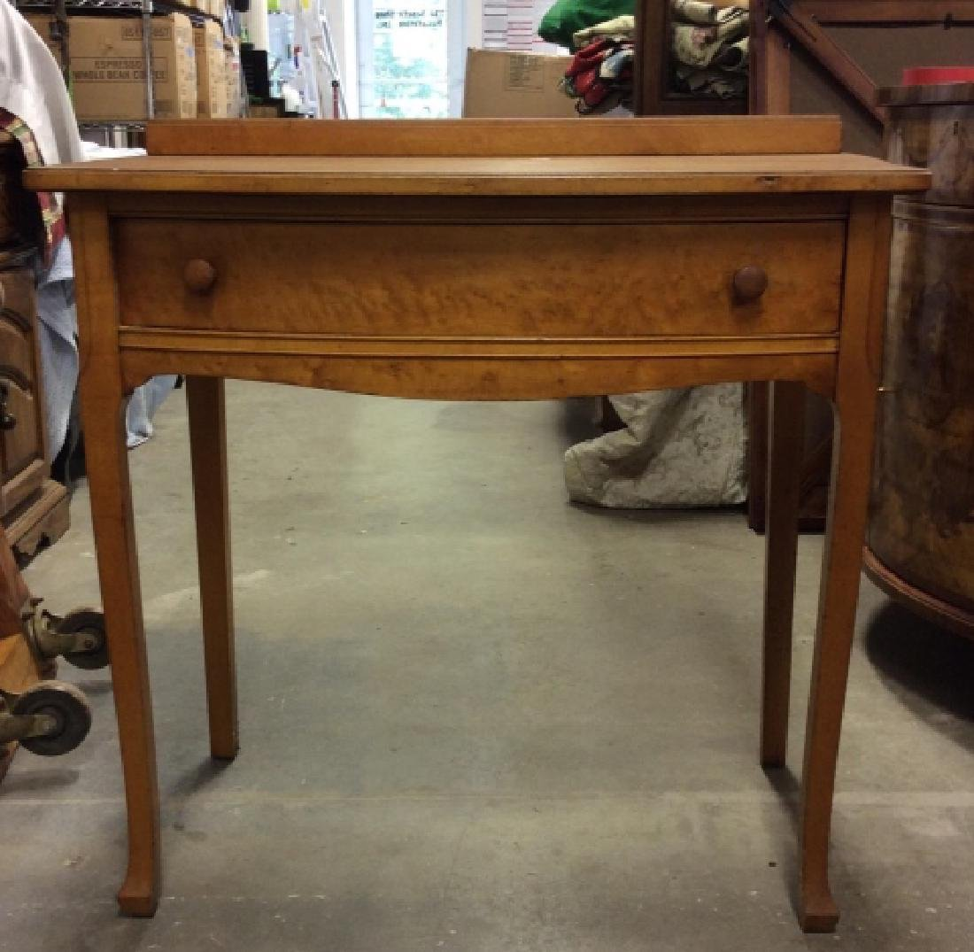Antique Birds Eye Maple Desk Table - 8
