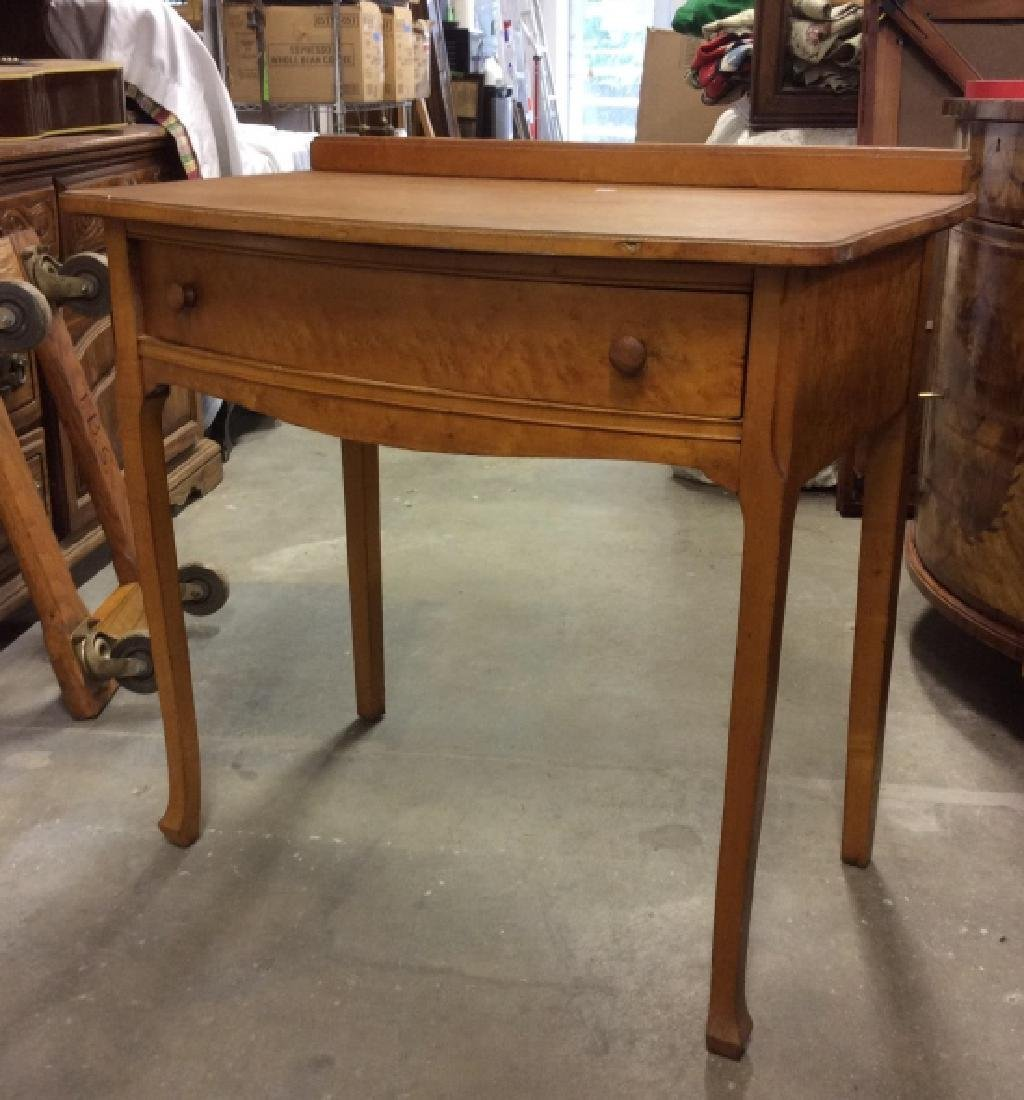 Antique Birds Eye Maple Desk Table - 9
