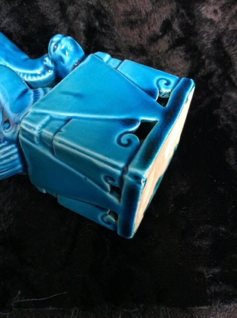 Blue toned Vintage/Antique Ceramic Foo Dog - 7