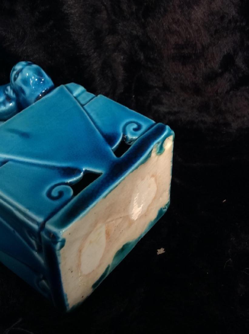 Blue toned Vintage/Antique Ceramic Foo Dog - 8