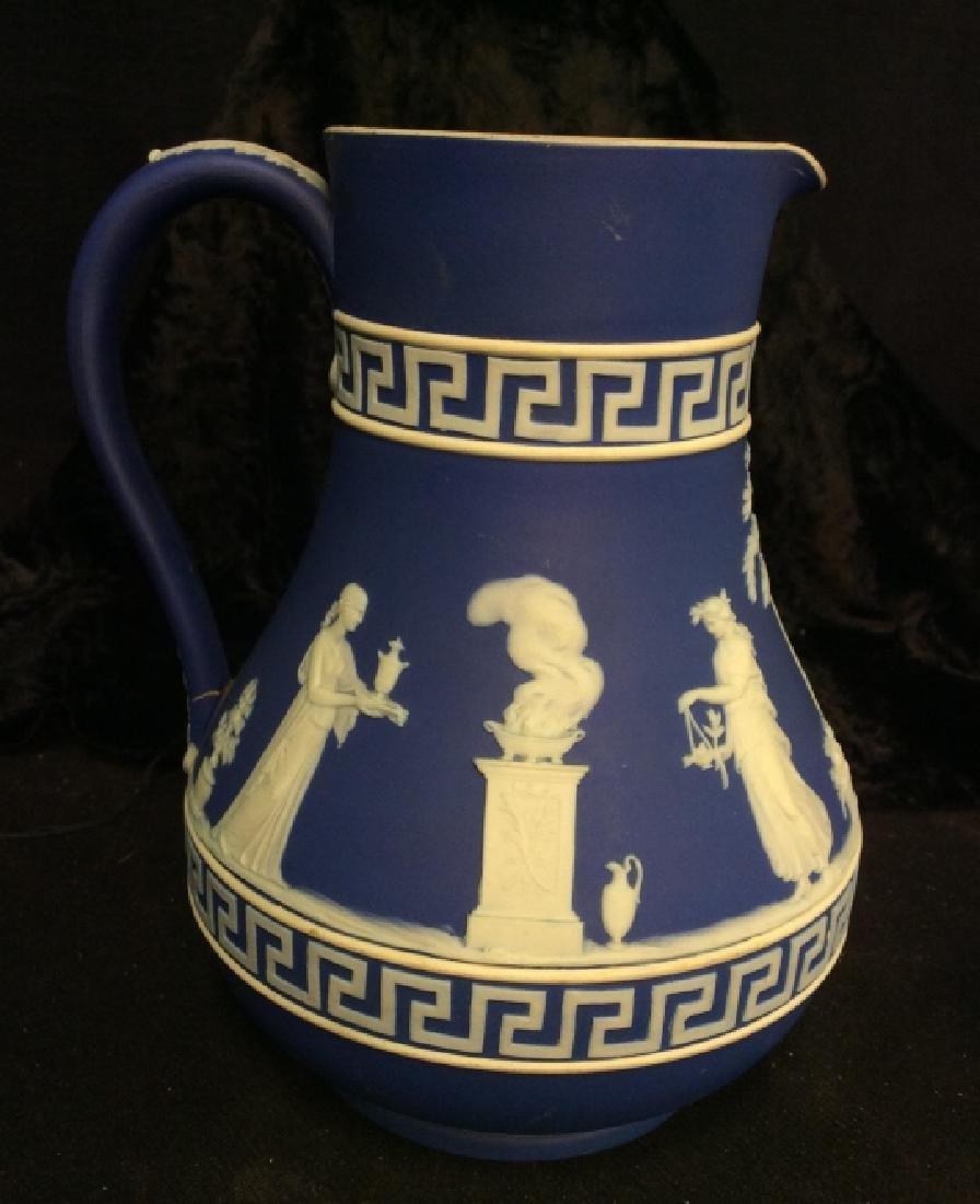 Indigo WEDGEWOOD Porcelain Pitcher - 2