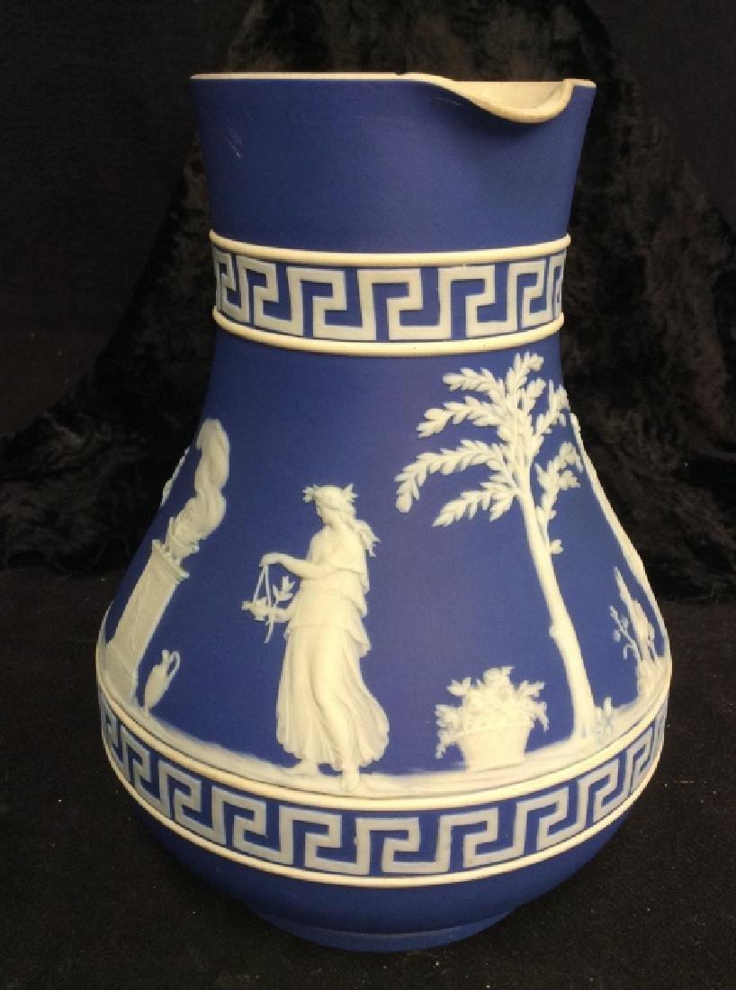 Indigo WEDGEWOOD Porcelain Pitcher - 3