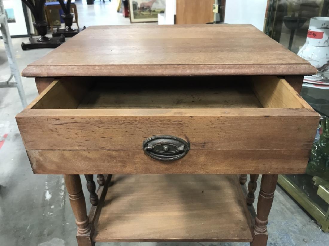 Vintage Carved Wooden Nightstand - 5