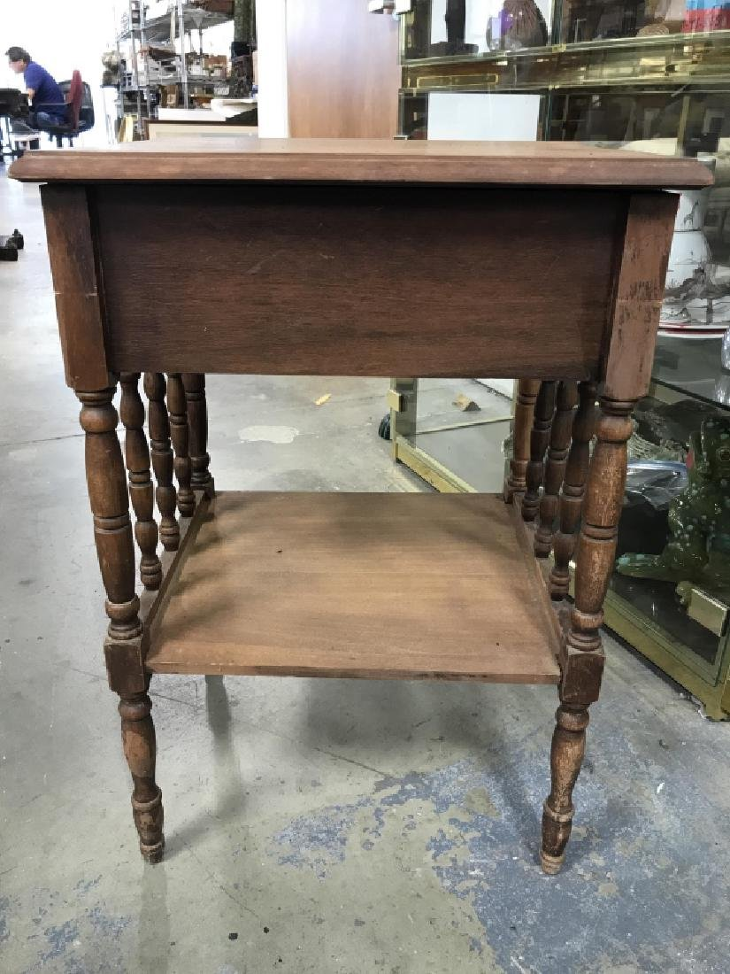 Vintage Carved Wooden Nightstand - 7