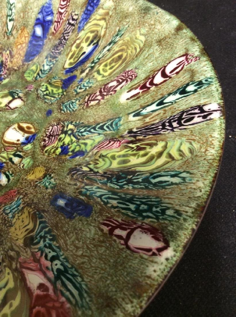 Hand Made Copper w Enamel Plate - 7