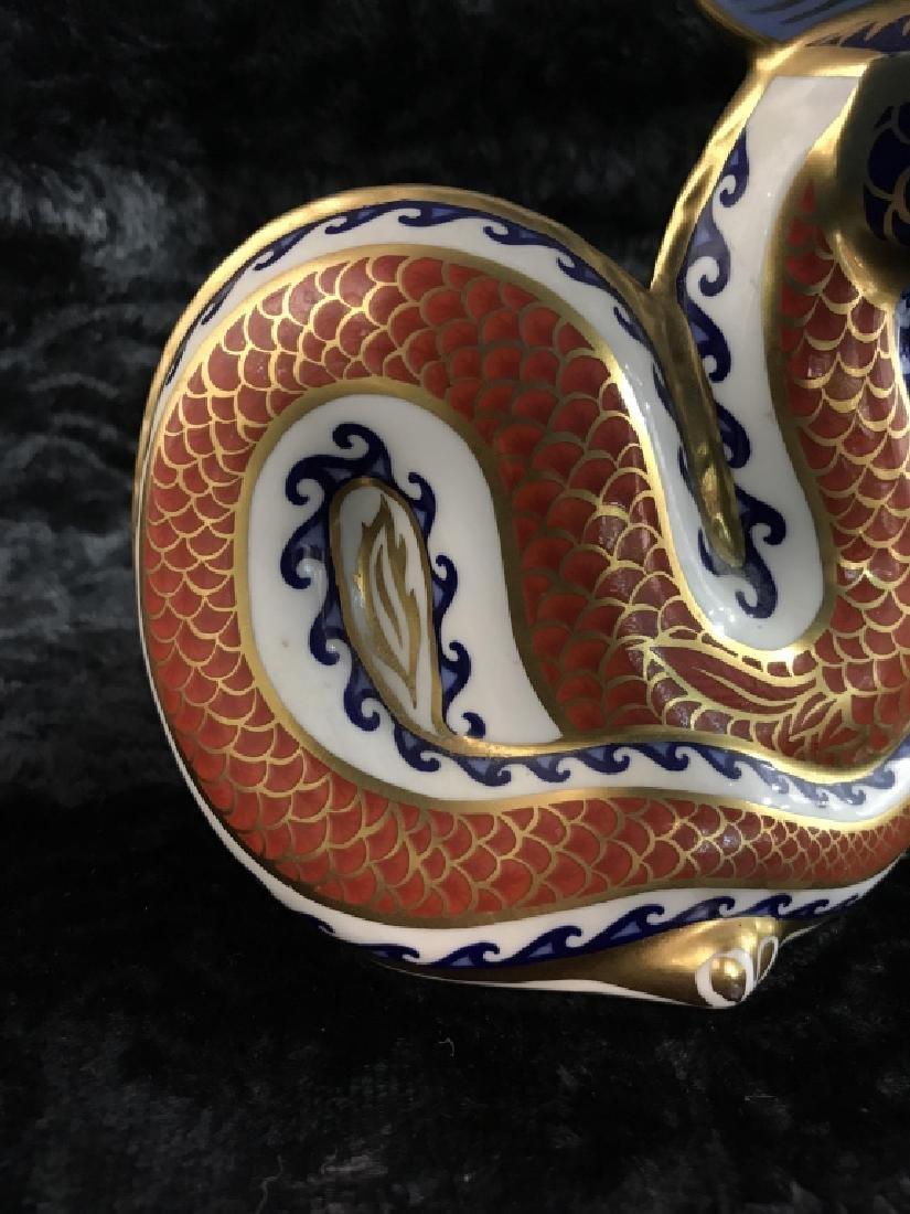 ROYAL CROWN DERBY Fine Bone China Dragon Figural - 7