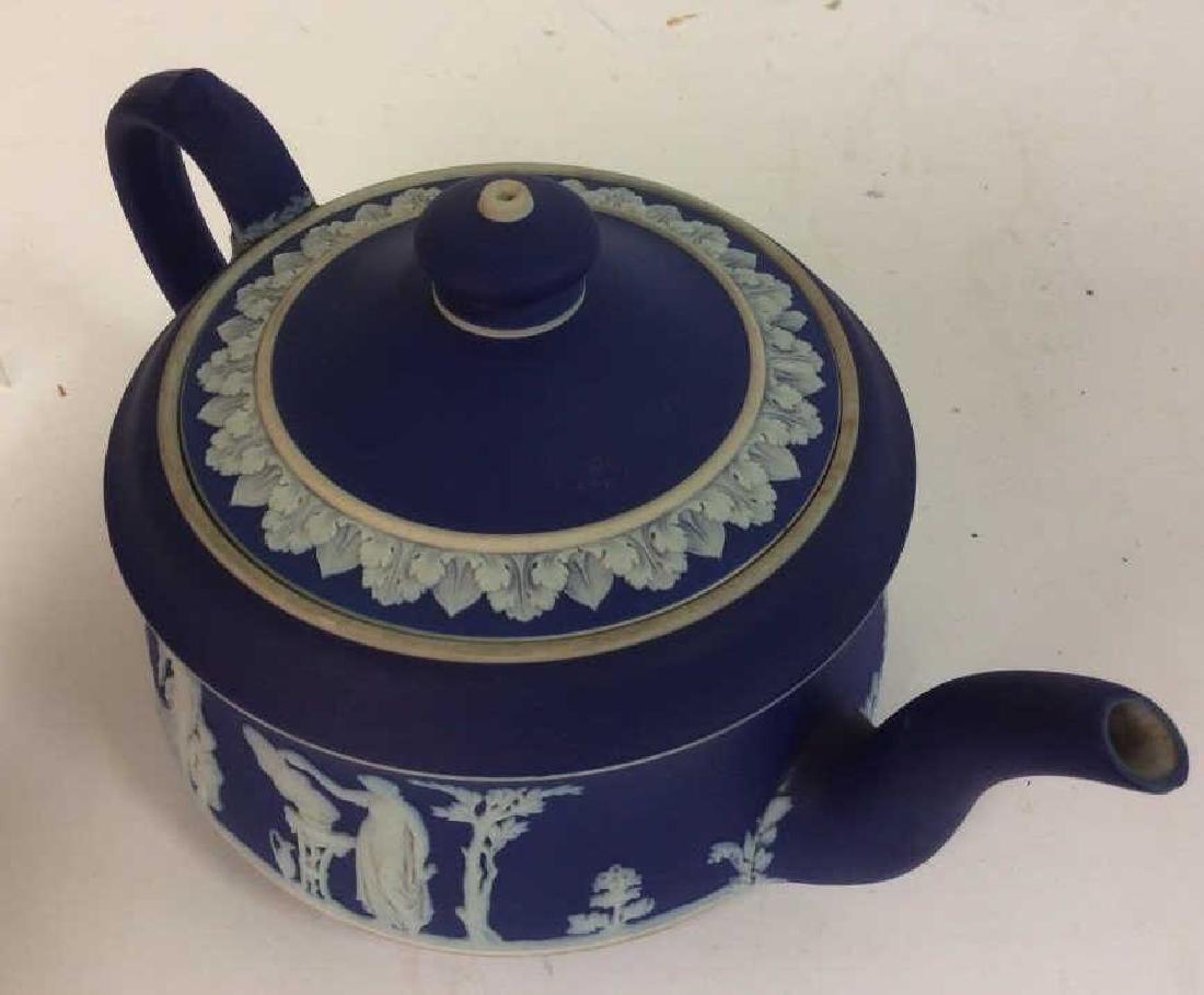 WEDGEWOOD Indigo Tone Tea Pot w Lid - 3