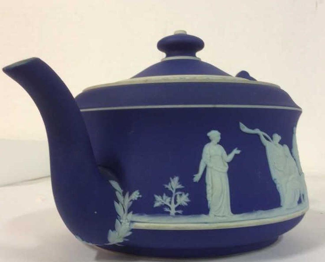WEDGEWOOD Indigo Tone Tea Pot w Lid - 4