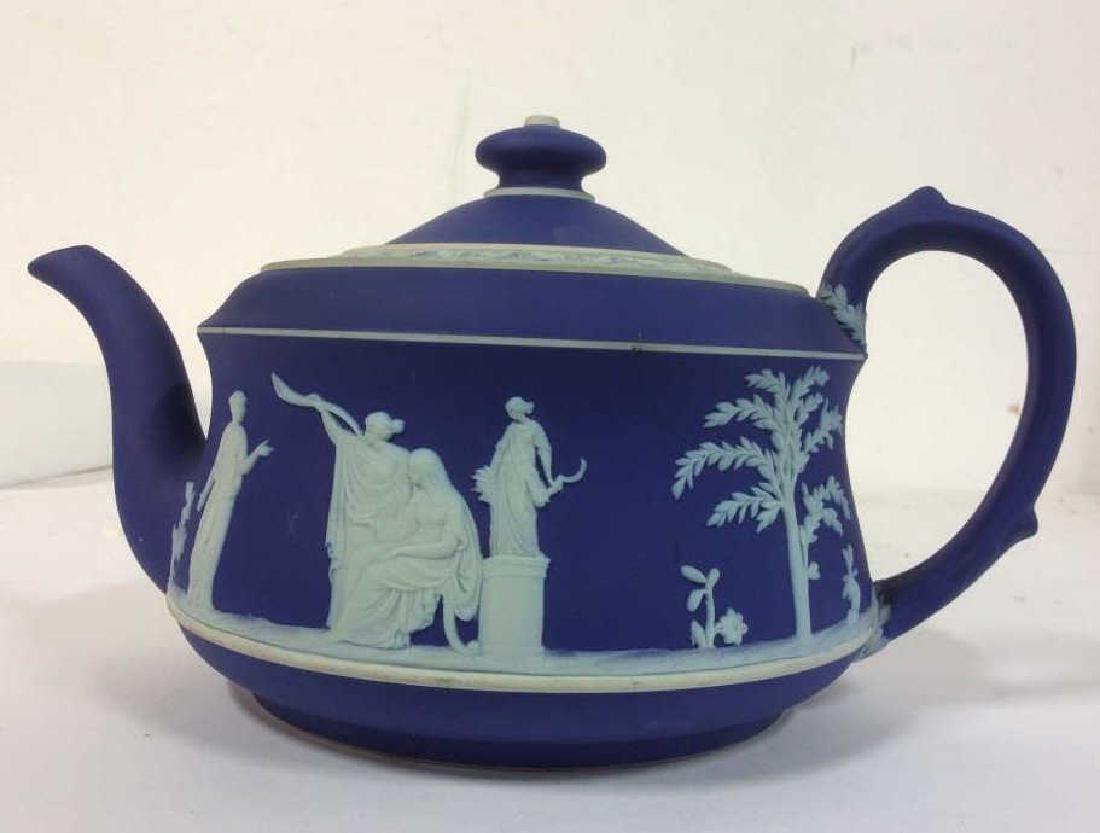 WEDGEWOOD Indigo Tone Tea Pot w Lid - 5