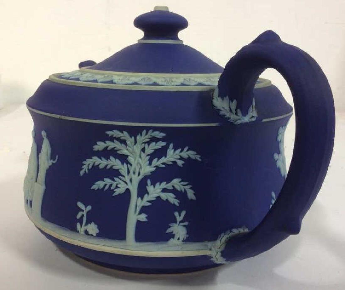 WEDGEWOOD Indigo Tone Tea Pot w Lid - 6