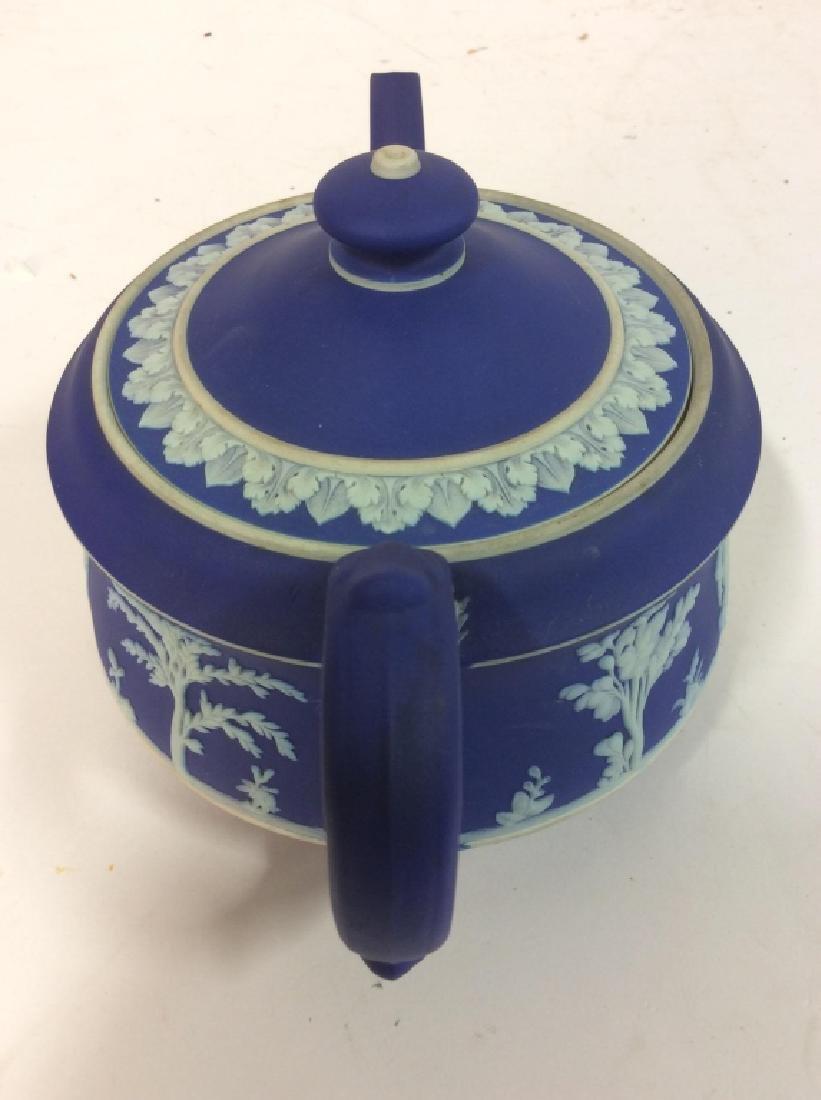 WEDGEWOOD Indigo Tone Tea Pot w Lid - 7