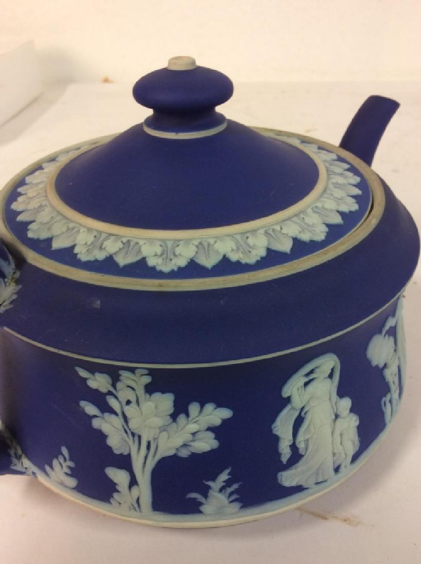 WEDGEWOOD Indigo Tone Tea Pot w Lid - 8