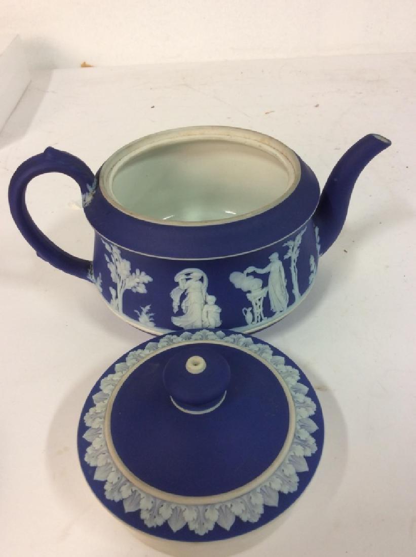 WEDGEWOOD Indigo Tone Tea Pot w Lid - 9