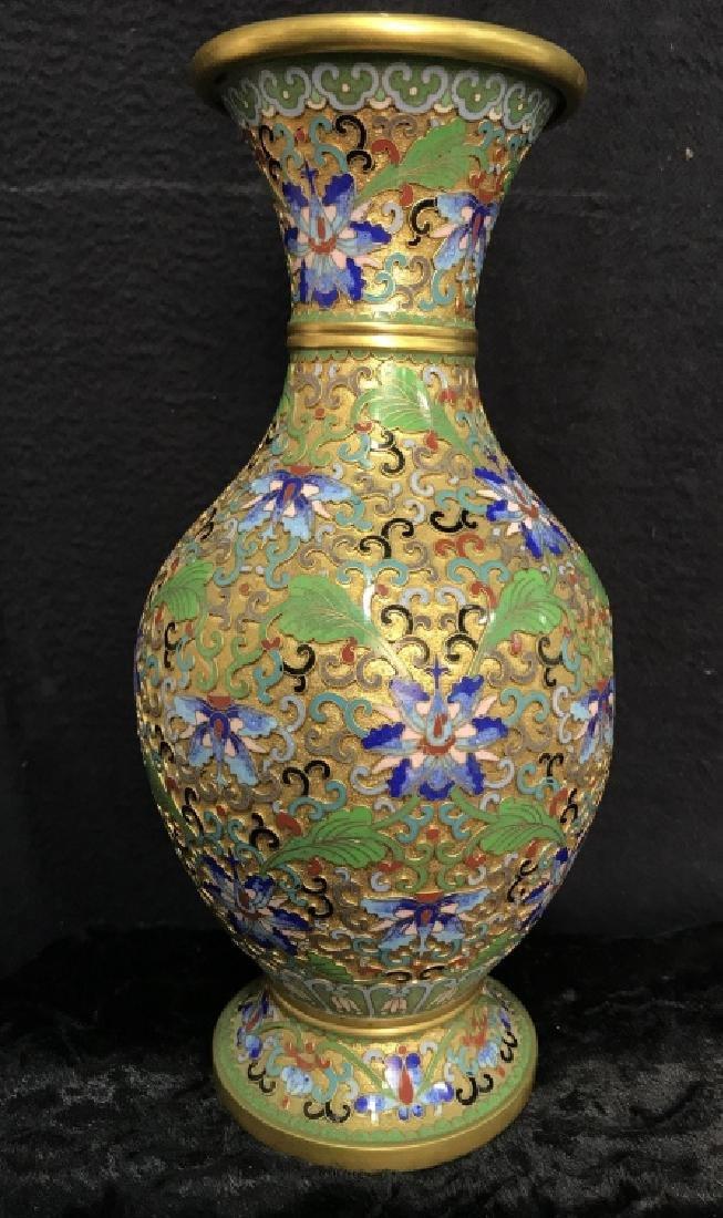 Oriental Enamel Cloisonné Vase