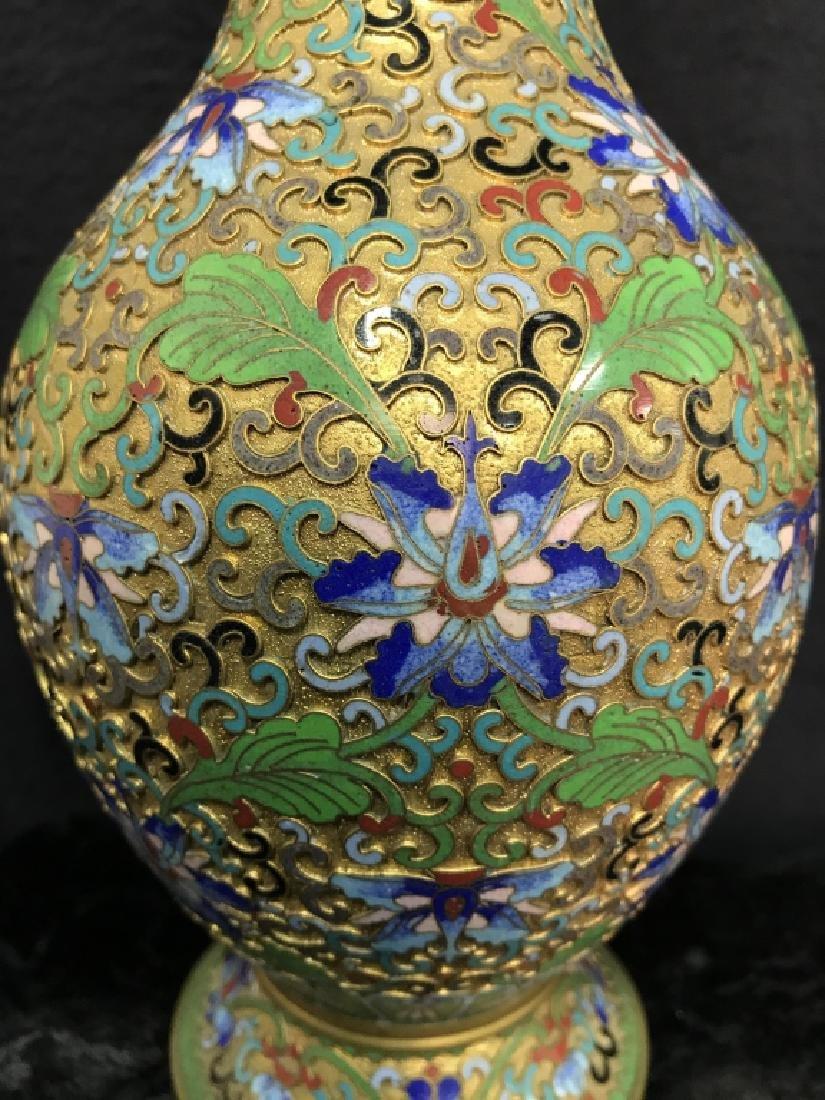 Oriental Enamel Cloisonné Vase - 2