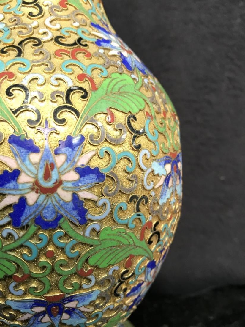 Oriental Enamel Cloisonné Vase - 3