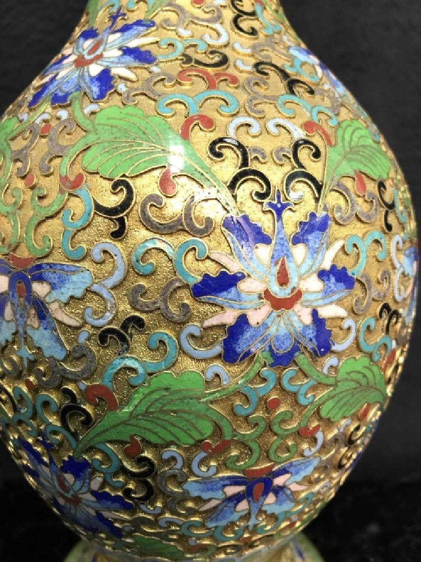 Oriental Enamel Cloisonné Vase - 4