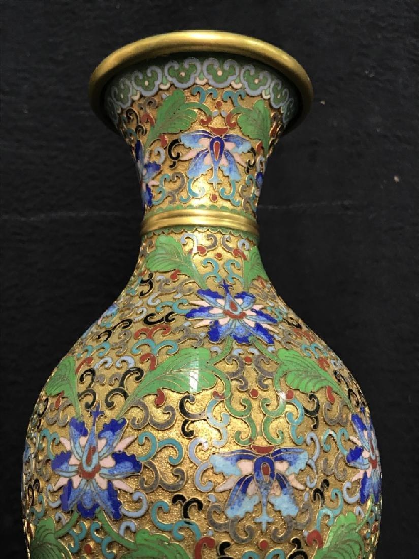 Oriental Enamel Cloisonné Vase - 5