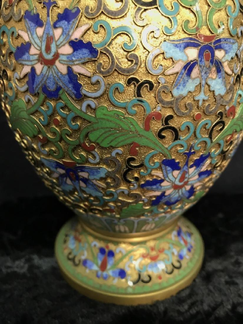 Oriental Enamel Cloisonné Vase - 6