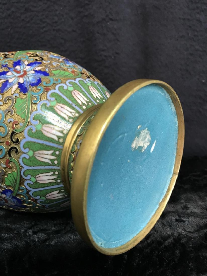 Oriental Enamel Cloisonné Vase - 7