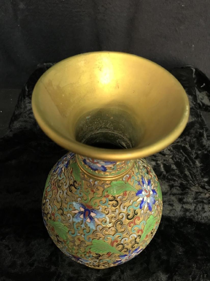 Oriental Enamel Cloisonné Vase - 8