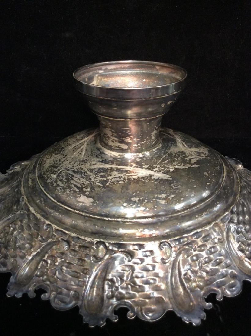 Silver Toned Pedestal Centerpiece - 10